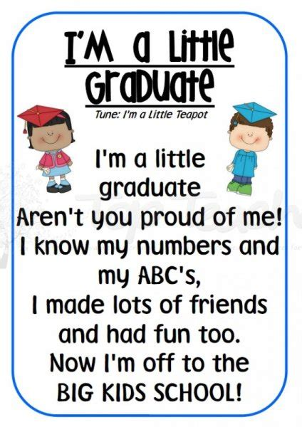 preschool graduation quotes quotesgram 463 | 1982480244 im a little graduate 001