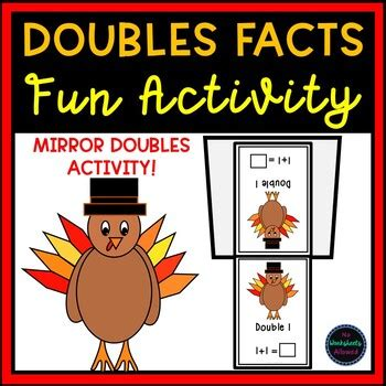 thanksgiving doubles facts activity   worksheets