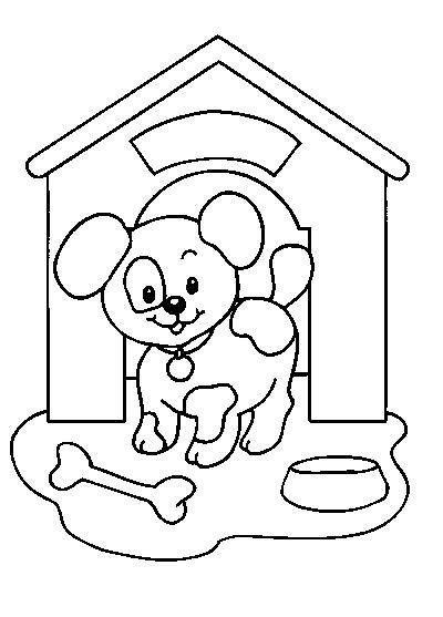 dog kennel  buildings  architecture printable