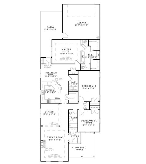 narrow lot  bedroom house plans home mansion long narrow