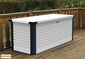 Coffre En Métal : coffre de rangement design en m tal patiobox 187x78 5x72cm 4 coloris trimetals ~ Teatrodelosmanantiales.com Idées de Décoration