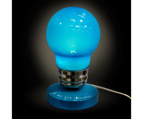 accessoire chambre ado le ampoule design humour lumière bleu 4416
