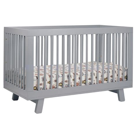 gray convertible crib grey hudson convertible crib by babyletto