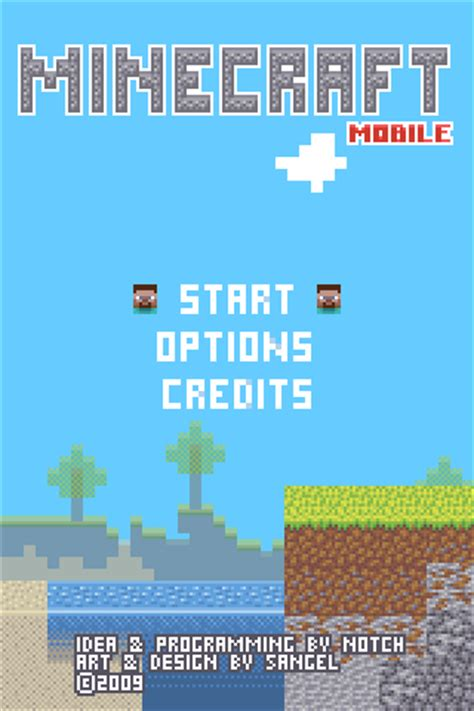 Minecraft Mobile by Minecraft Mobile Mockup Pixeljoint