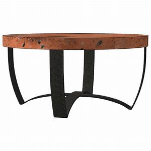 Round strap coffee table base only round iron coffee for Coffee table base only