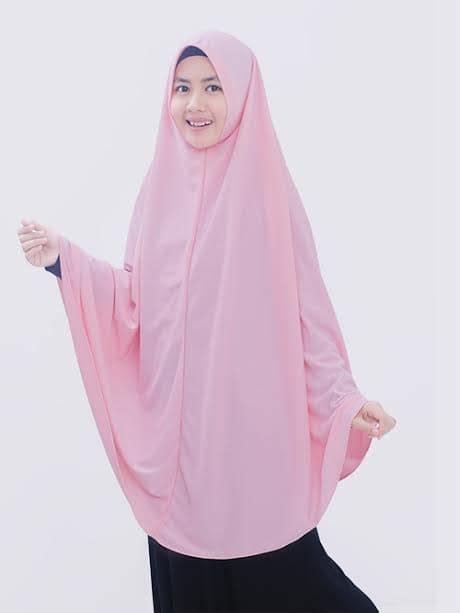 jual hijab syari asyifa  warna pink gamis syari