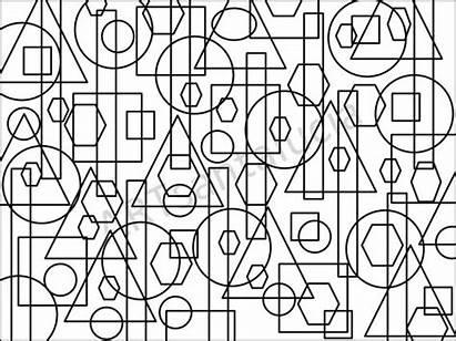 Coloring Boundaries Shapes Pages Shape Geometric Adult