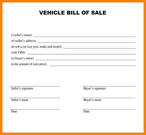 basic car sale agreement word  au