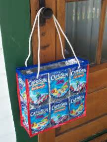 Recycled Capri Sun Pouches Craft