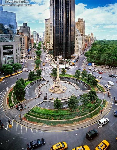 Elevated View of Columbus Circle II - Framed Photograph by ...