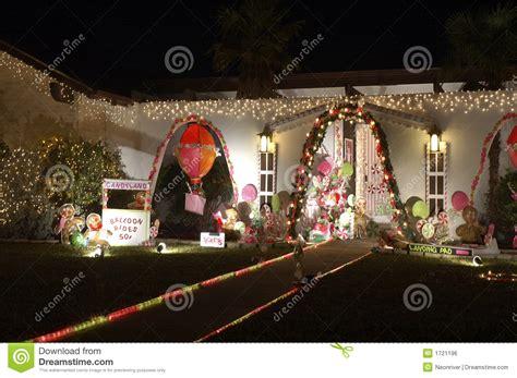candyland christmas lights royalty free stock image