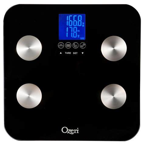 ozeri touch digital  lb total body bath scale zb