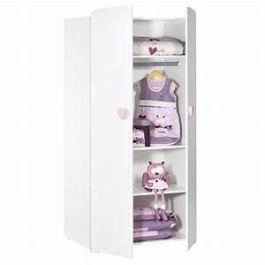 Armoire De Bébé : armoire b b 2 portes boutons coeur rose de baby price ~ Melissatoandfro.com Idées de Décoration