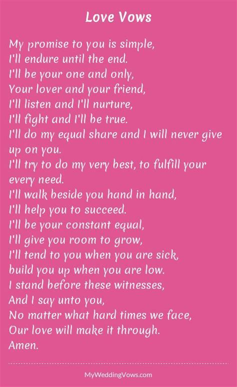 personalized wedding vows   wedding vows