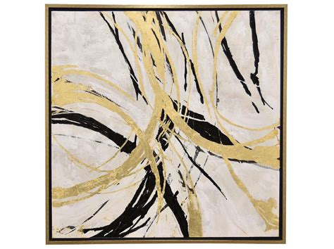 Abstract Black Gold Painting by Grey Gold And Black Abstract Framed Painting 51 Quot W X 51