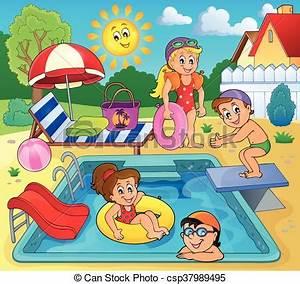 Dessin De Piscine : piscine enfant dessin ~ Melissatoandfro.com Idées de Décoration