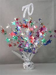 70th Birthday Party Centerpiece Ideas