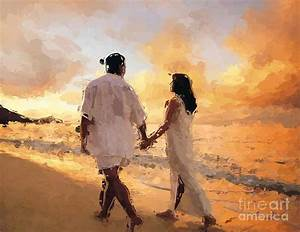 Paintings Of Couples On The Beach,paintings Of Love ...
