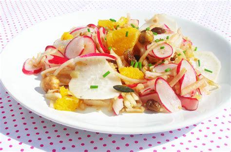 recette de cuisine gastronomique facile salade vitaminée aux deux radis cocotte et