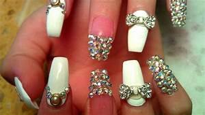 cute nail designs with bows and diamonds   rajawali.racing