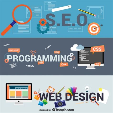 free web design e business and web design elements vector free