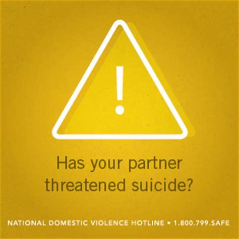 partner threatens suicide  national