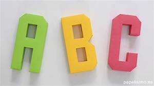 Cómo hacer letras 3D de papel o cartulina (Abecedario A Z) PAPELISIMO