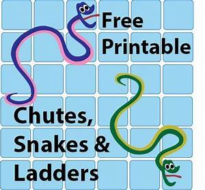 Free Printable Chutes And Snakes And Ladders Plus Other