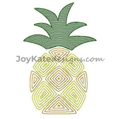 pineapple sketch vintage embroidery design joy kate designs