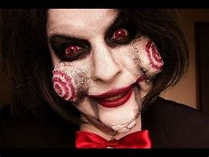 Halloween Make Up Puppe : jigsaw billy make up tutorial halloween youtube ~ Frokenaadalensverden.com Haus und Dekorationen