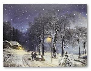 Led Wandbilder Shop : 3 wandbilder winterlandschaft led beleuchtet 40 x 30 cm schnee weihnachten ebay ~ Markanthonyermac.com Haus und Dekorationen