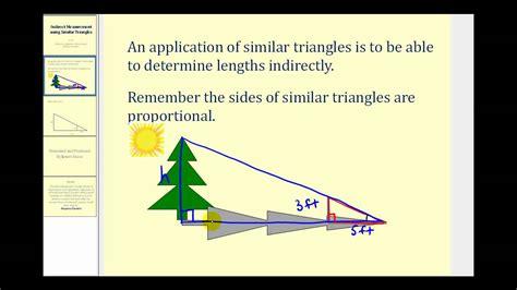 indirect measurement  similar triangles youtube