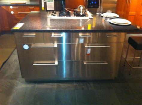 ikea stainless steel kitchen island    great