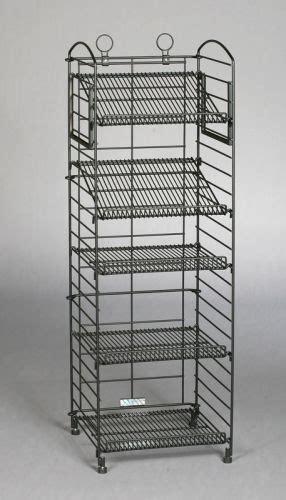 black matte fold  rack adjustable  shelves