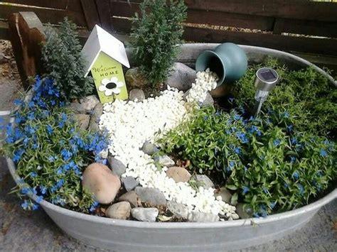 Dekorierte Zinkwanne  Garten Pinterest