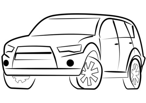 SUV Car coloring page Free Printable Coloring Pages
