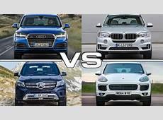 Audi Q7 vs BMW X5 vs Mercedes GLS vs Porsche Cayenne YouTube