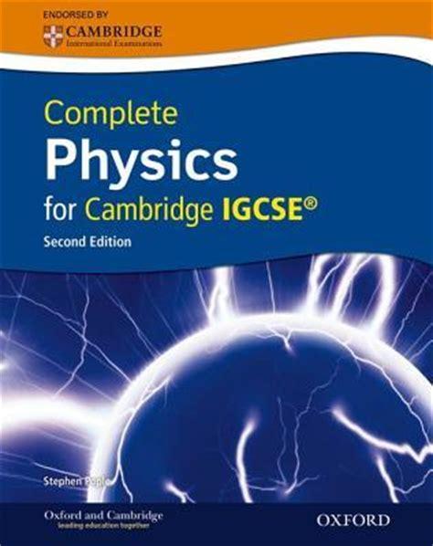 complete physics  cambridge igcse  stephen pople