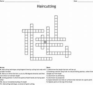 Haircutting   Hirstyling Crossword
