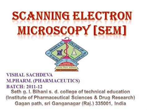 scanning electron microscopy sem authorstream
