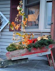 primitive christmas porch decor - Primitive Christmas Porch Decor