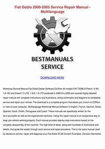 Fiat Doblo 2000 2005 Service Repair Manual Mu By Celinda