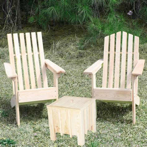 set of 2 junior cypress adirondack chairs and cube combo