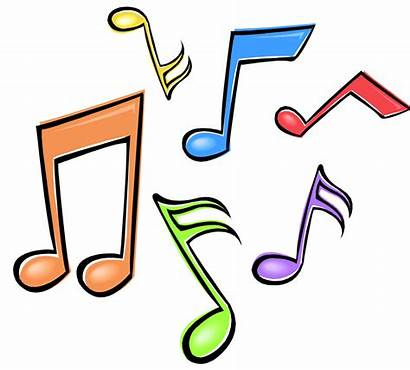 Notes Clipart Clip Musical Colorful Cliparts Clipground