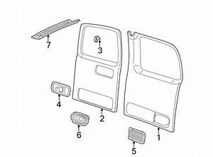 Chevrolet Express 2500 Door Interior Trim Panel  Rear   1