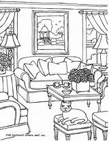 Coloring Pages Drawing Perspective Opera Sydney Rooms Adults Adult Living Colouring Interior Furniture Drawings Books Then Fred Printable Getdrawings Colors sketch template
