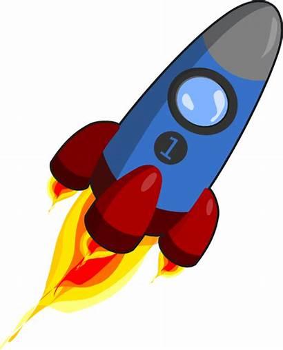 Rocket Clip Clipart Ship Space Clker Rocketship