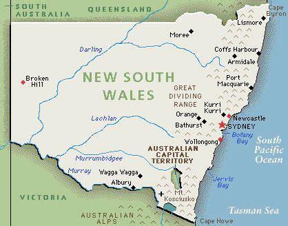 south wales map australian life pinterest south