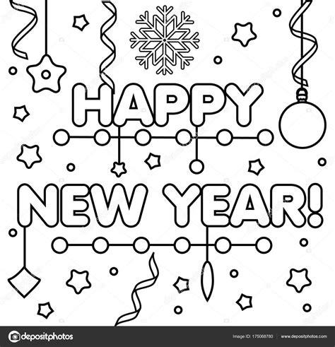 Kleurplaat Spel by Kleurplaat Met Gelukkig Nieuwjaar Tekst Tekening Geitjes