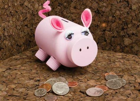 sparschwein selber basteln niedliches sparschweinchen aus einer dose mit deckel